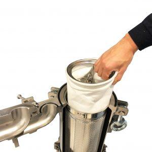 Herausnehmbarer Beutelfilter zur Filtration