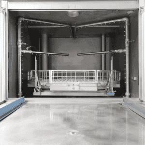 Metallreinigungsanlage allseitiges Düsensystem