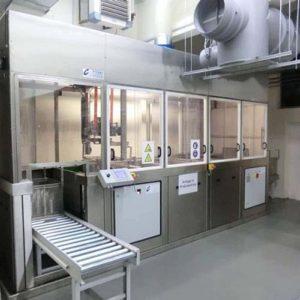 Modulare, industrielle Reinigungsanlagenn Rollenband