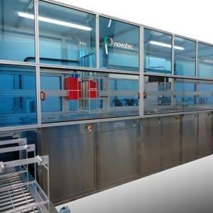 Die modulare Ultraschallreinigungsanlage erzielt in bis zu 15 Kammern höchste Reinigungsergebnisse