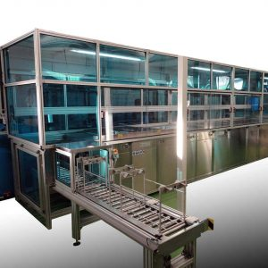 Reinigungsanlage Mehrkammersystem mit automatischem Warentransport