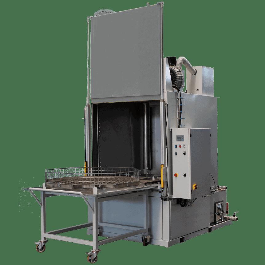Mit der CM10 bietet Glogar eine optimale Lösung zur Reinigung von großvolumigen Teilen mit sehr hohen Beladegewichten bis zu 2 Tonnen