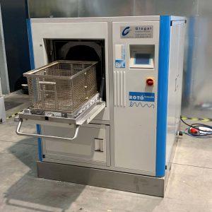 Ansicht von links Teilereinigungsmaschine Rotocleaner EMS 600